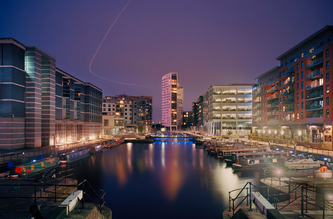 5 x 4 view camera used for high quality architectural photography Clarence Dock Leeds