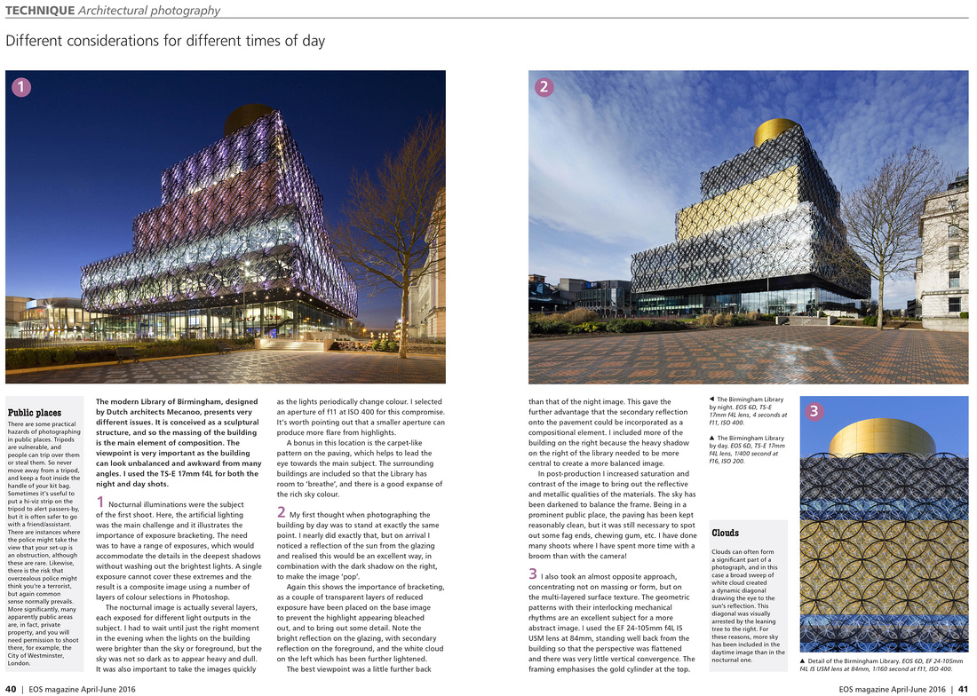 architectural photography article in eos magazine