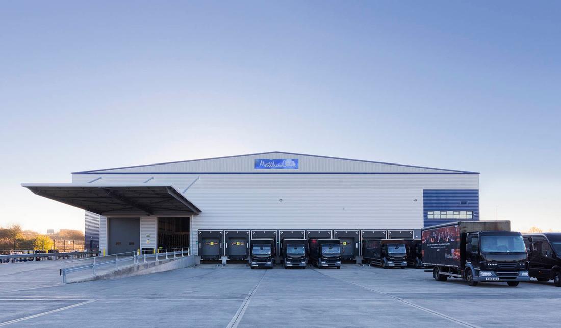 architectural photography of Matthew Clark distribution warehouse, for Pinnegar Hayward Design, Birmingham