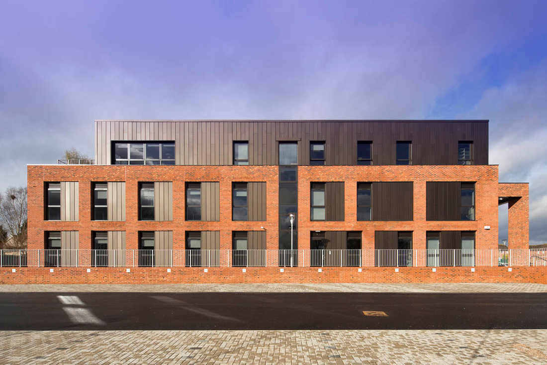 Architectural photograph of Tewkesbury Primary Care Centre, for Seddon Construction and ADP Architects