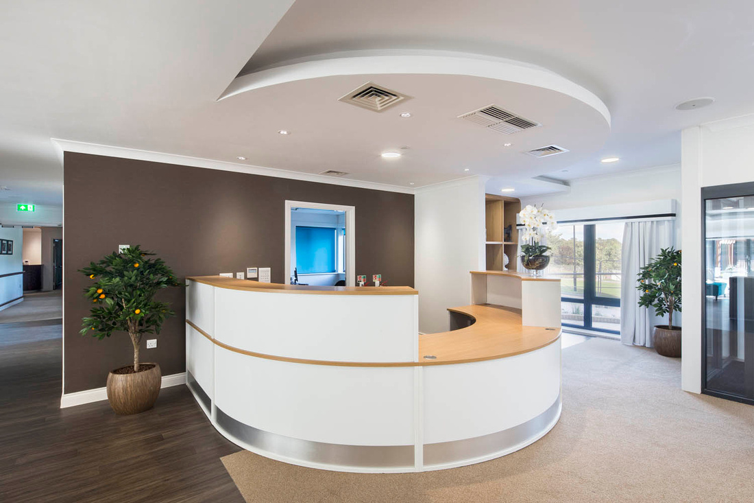 Architectural Photography of Bourn View care home, Birmingham. Interior photography