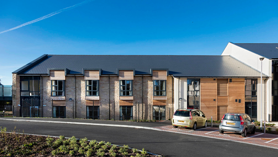 architectural photography of care home in Buxton for Glancy Nicholls architects, main contractor Keepmoat