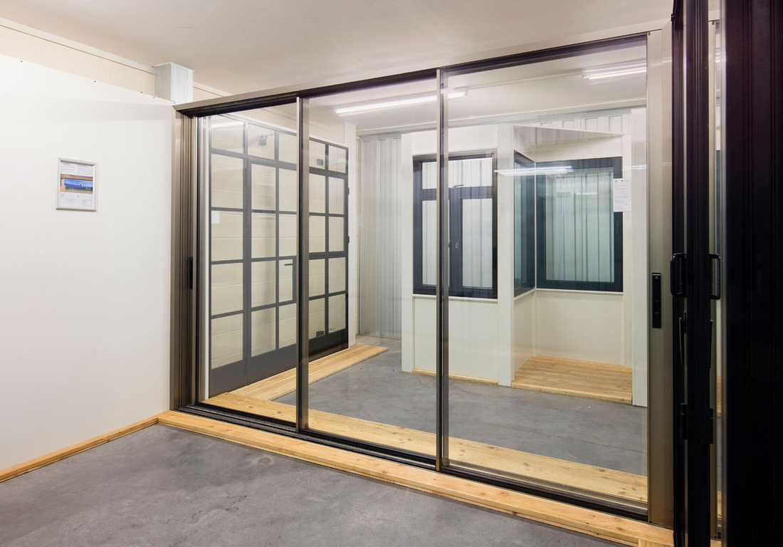 architectural photography of windows glazing building products