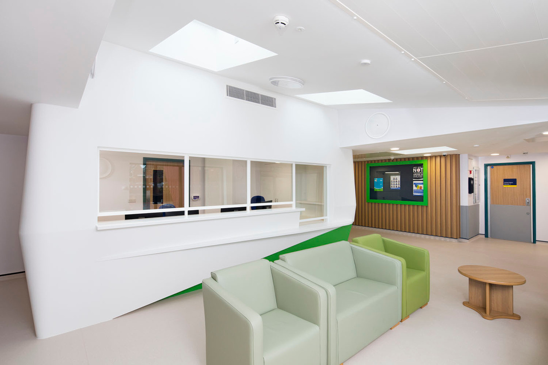 architectural and interior photography of Worcester Royal Hospital