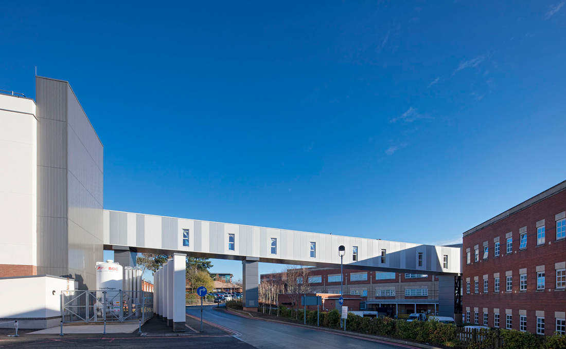 Architectural Photography of Worcester Royal Hospitla