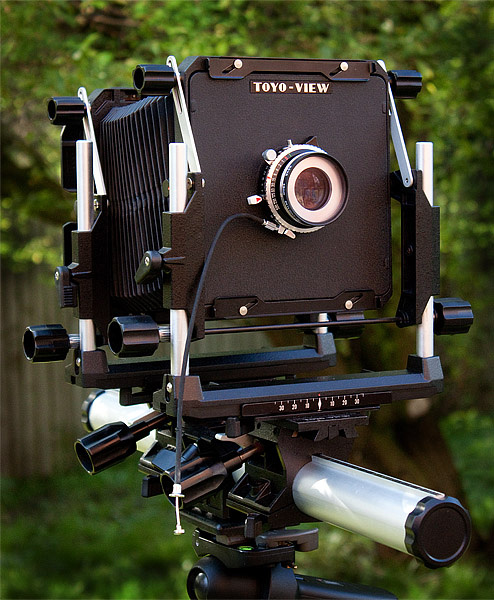 5 x 4 view camera used for high quality architectural photography