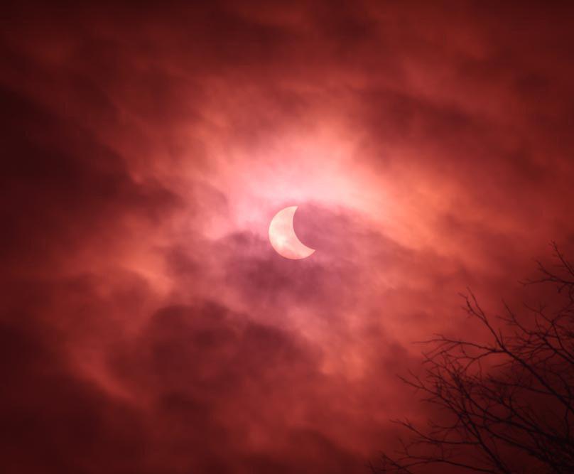 partial eclipse cloud beautiful Birmingham