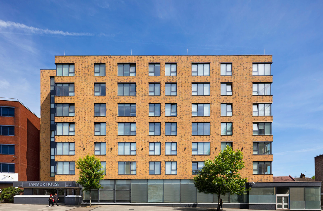Architectural photography in London. Lanmor House, Wembley