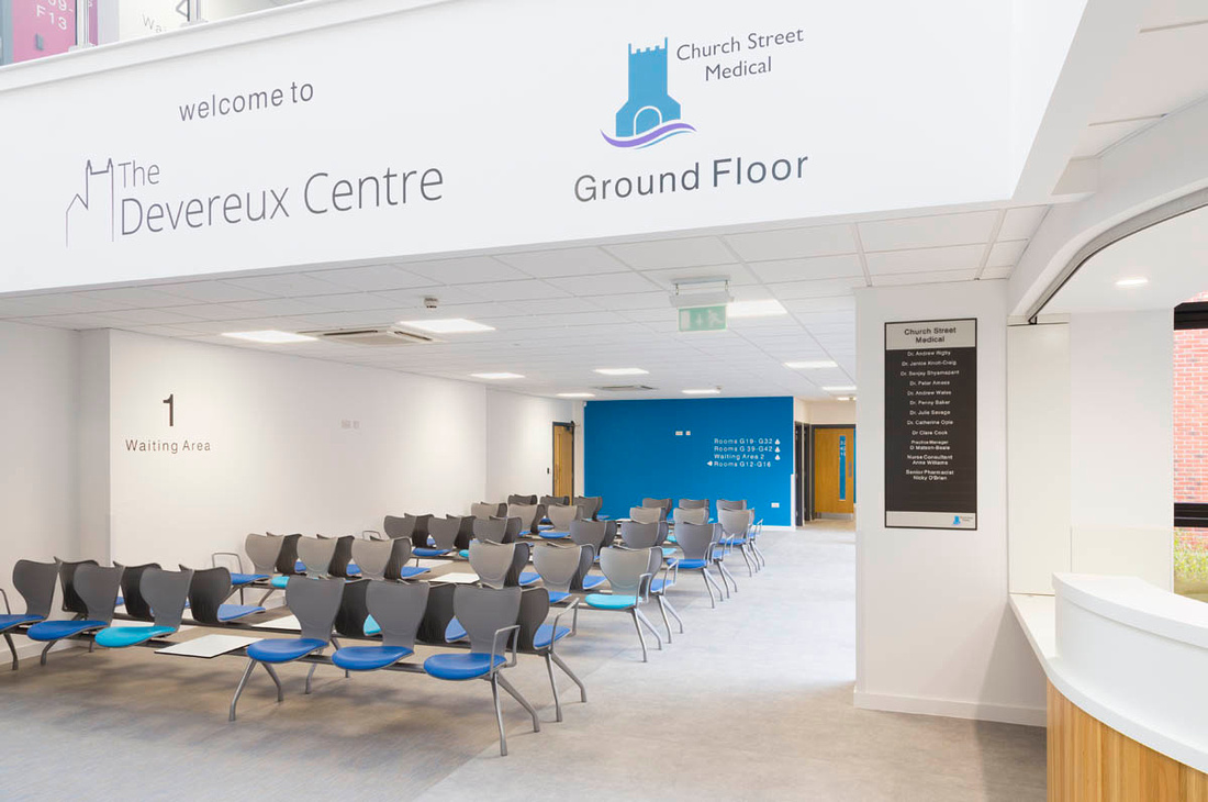 Architectural photography of Tewkesbury Primary Care Centre, for Seddon Construction and ADP Architects