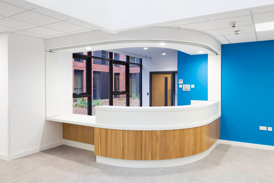 architectural and interior photography of Tewkesbury Primary Care Centre, for Seddon Construction.  Designed by ADP Architects