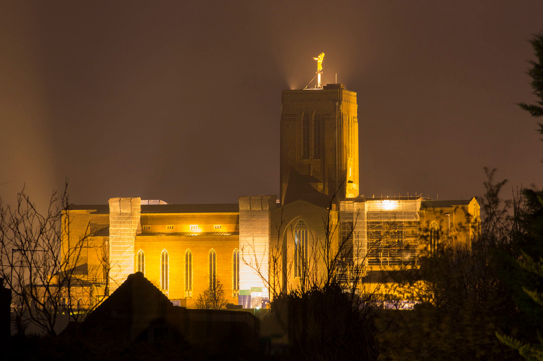 Guildford Cathedral, nocturnal illumination